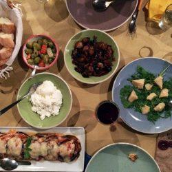 italian dinner tablescape