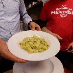 Mortadella Head zucchini pasta