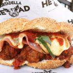 meatball sub with mortadella and provolone