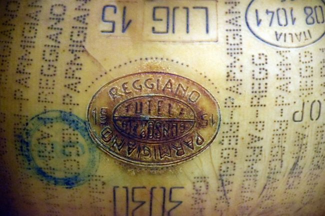 Parmigiano Reggiano's DOP Label