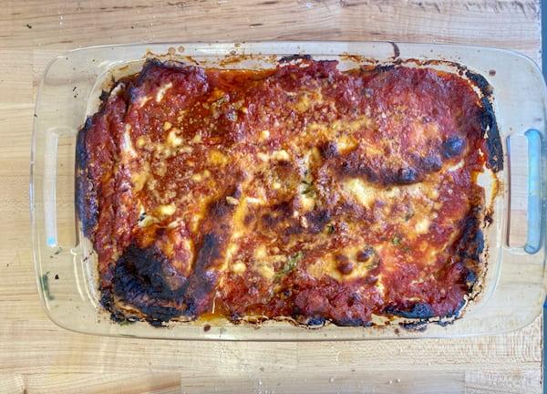 our eggplant parmigiana