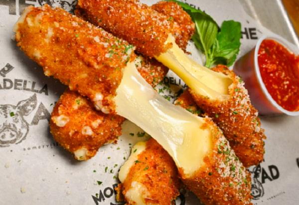 homemade mozzarella sticks by mortadella head